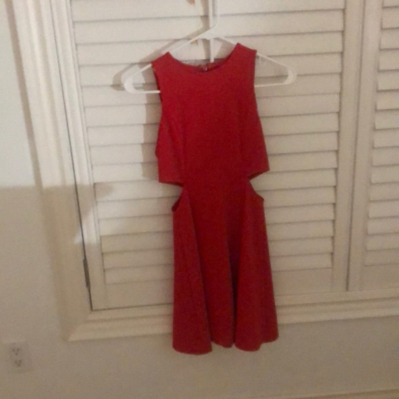 Topshop Dresses & Skirts - Top shop red mini, dress worn once, size 2.